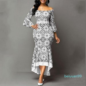 Spring Autumn African Maxi Dresses For Women 2020 Fashion Robe Long Dress Lace Bazin Vestido Dashiki Party African Clothes