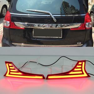 1 set Coche LED Trasero Reflector Luz reflectora para Suzuki Ertiga 2012 2014 2015 2015 2015 2016 2017 Cola de la luz de freno para Scross Vitara 2015 2016 SX4