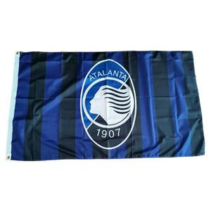 علم إيطاليا أتالانتا FC 150x90cm 100D البوليستر الرياضة في الهواء الطلق فريق نادي Inddor شنقا شحن سريع مجاني