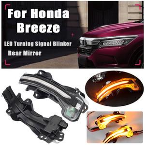 Dinámica LED señal de vuelta de la luz que destella para Honda Breeze 2019-2020 ABS Luz de posición del ala Retrovisor indicador de señal intermitente