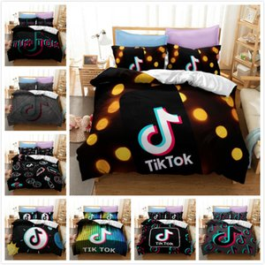 3D Printing Bedding Set Music Note Vibrato Treble Clef Staff Black & White 3-Pieces Duvet Cover Sets Polyester Bed Clothes