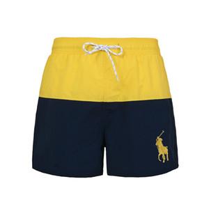 Designer PoloRalph Pferd 2020 Luxus-Strand-Hosen neue Art und Weise der Männer Shorts Hem High-End-Druck Solid Color Breath Sweat-Shorts
