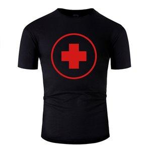 Freizeit Customized Medical Cross T-Shirt für Mens Custom Männer-T-Shirts Klassische feste Farbe Aufmaß S-5xl Hiphop