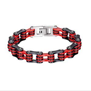 Top quality men's stainless steel bracelets stainless steel bicycle chain bracelets bike chain bracelet body jewelry factory OEM GJ1086