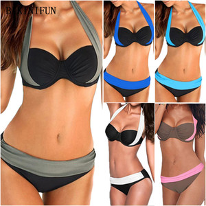 New Sexy Bikini Swimwear cintura baixa Swimsuit Plus Size maiô menina Push Up Beachwear Brazilian Bikini Set S-3XL