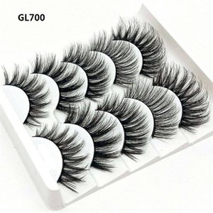 Faux cils 10pcs Fashion Naturel Long 3D EXTENDURE FLUPPY FLUPIE 100% MINK FAIS FAIS