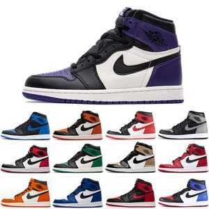 Black Cat 4 4s Bred 11 11s Royal Toe 1 1s Mens Women Basketball Shoes What The Concord Court Purple Sports Outdoor Shoes