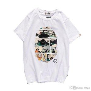 Nouvel arrivage de gros dessin animé hommes impression jeunesse T-shirt décontracté col rond manches courtes Hommes Femmes Round Casual Neck Hip Hop T-shirts