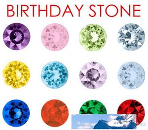 120pcs / комплект 5mm круглый / Five Star / Сердце австрийского кристалла День рождения камень Floating медальон Подвеску для стекла памяти Locket различных цветов Free S