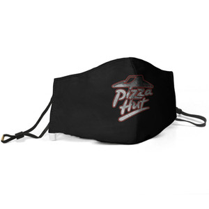 Women Men Face Mask Dust Mask Muffle Pizza Hut logo Distressed online delivery Printed With Adjustable Ear HookBud Light Blue
