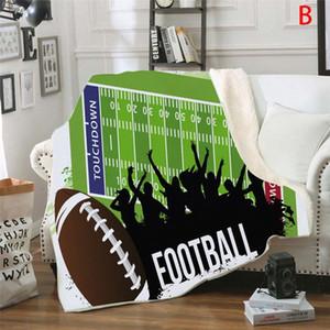 Duplo Grosso Esporte Futebol Home Decor Área tapete da sala bedroom Kitchen Mat cobertores para camas Inverno 2020 60uw #