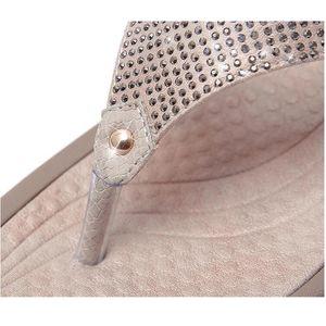 BEYARNE2019New Women Floral Beaded Sequin Embellishment Mesh Slippers Flip Flop Sandal Wedge platformshoes sandalia femininaE054 Y200624