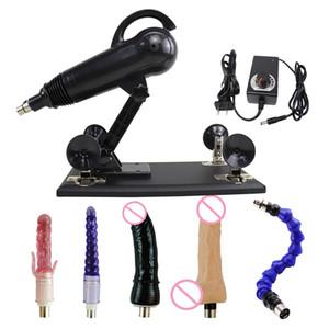 FREDORCH Sex Machine for Woman Pumping Gun Telescopic Masturbation Fuckmachine With Dildo Attachments Sex Toys For Adult Gift T200730