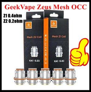 Geekvape Zeus Alt Ohm Tank Atomizer için Geekvape Zeus Mesh Z1 0.4ohm Z2 0.2ohm Bobin Değişimi Vape Çekirdek