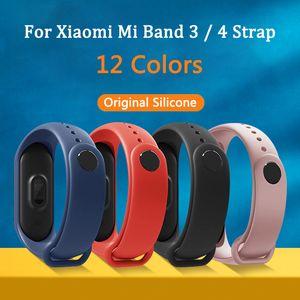 Bügel für Xiaomi Mi Band 4 3 Original-Silikon-Armband Armband Ersatz für Xiaomi Band 3 4 MiBand Handgelenk Farbe Strap