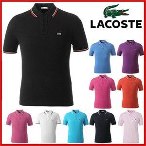 Classico di nuovo stile estate uomini di polo a righe magliette Lacoste Casual New York RL manica corta in cotone moda Polo USA da corsa T-shirt N