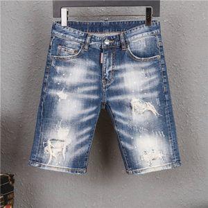 2020 designer jeans Mens Jeans Shorts Vintage Street Elastic Waist Outdoor Short Pants Sport Loose Casual Shorts designer pants
