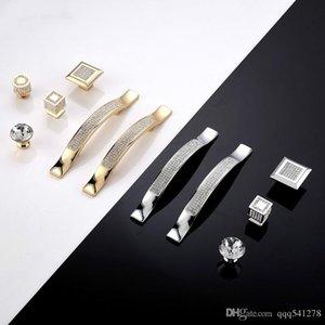 홈 주방 장식 현대 다이아몬드 크리스탈 서랍 내각 찬장의 보석 옷장 문 손잡이 손잡이 홈 개선