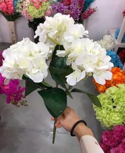 실크 수국 꽃 (6) 빅 헤드 Bounquet 웨딩 장식 인공 식물 홈 장식 액세서리 SF05