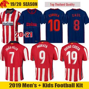قميص 21 20 اتلتيكو مدريد لكرة القدم الفانيلة JOAO FELIX 2020 2021 SAUL Camisetas دي فوتبول موراتا رجل جيرسي الاطفال كيت DIEGO COSTA كرة القدم