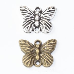 100pcs 20*16MM Antique bronze alloy metal butterfly charms vintage pendants for bracelet earring necklace diy jewelry making