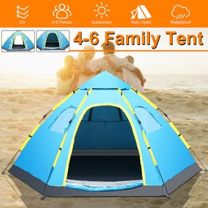 Outdoor Folding Tent Sunscreen Ultralight Automatic Family Camping Equipment Double Tents Large Area Waterproof PU Fabric Tents