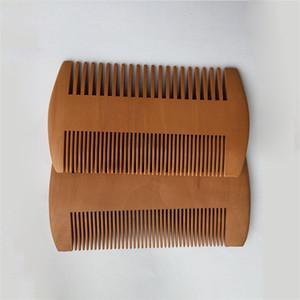 الوجهين Burlywood مزدوج مشط الشعر سوبر تضييق نطاق سميكة الخشب اللحية أمشاط تصفيف الشعر تصفيف فرشاة الرعاية الصحية الخوخ جيب باربر 1 85my B2