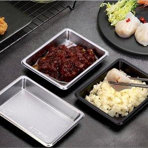 Einweg-Geschirr Sushi Soy Würzen Saucers Rechteck Kunststoffplatten Salat Salzbehälter Restaurant Take-Out-Paket Dish DHE116