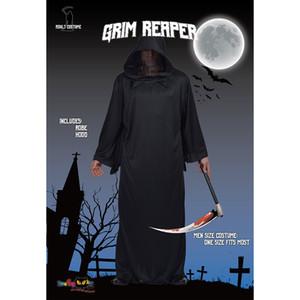 Herren Halloween Black Cosplay Kostüm Cool Robe Krieger lose Cospala Requisiten Grim Reaper Bühne Kleidung Party Kleidung