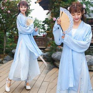 Nouveau modifié Hanfu brodé pantalon long été chapeau song élément Changhan costume de graduation pour les femmes Sling Sling