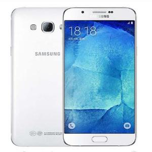 تم تجديده الهاتف الخليوي الأصلي سامسونج غالاكسي A8 A8000 مفتوح الثماني الأساسية روم 16GB16.0MP 5.7 بوصة 4G LTE