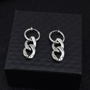 chain earring for women stainless steel jewelry for women korean style piercing earring gifts Women's accessories wholesale