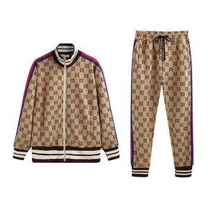 19ss mens tracksuits sportswear men's full zipper men's sports suit men's sweatshirt set and pants Medusa sportswear