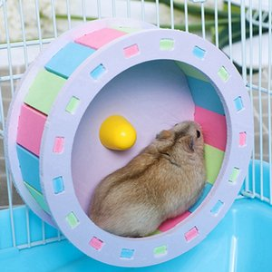 Pet Sports Fitness Hamster Running Wheel Hamster Jogging Wheel DIY Mute Color Funny Running PVC Disc Toy Hamster Pet Supplies