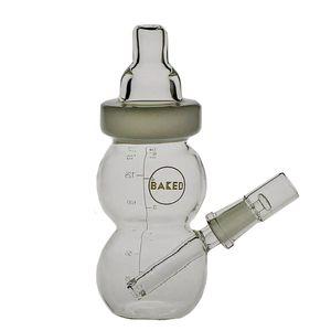 Matrixr bottiglia Dab Rig gelato Bong di vetro bambino bottiglia di olio Rig Jade tazza dell'acqua fumo dimensioni del tubo comune 14,4 millimetri PG5051 / 54/56/58 Radom colori