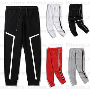 New 20ss Designer Pants Mens Brand Sports Pant Pantalones de chándal con rayas laterales Joggers Casual Streetwear Pantalones Ropa