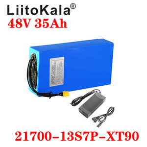 LiitoKala 48V 35ah 21700 13S7P Electric Bicycle Battery 48V 35AH 1000W Lithium Battery Built-in 20A BMS Electric Bikes Motor