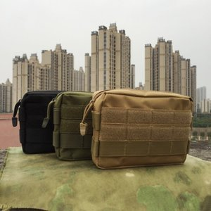 Outdoor molle sub- camouflage Commuting Hand Hand tactics running bag EDC tool change handbagfan accessories commuter bag