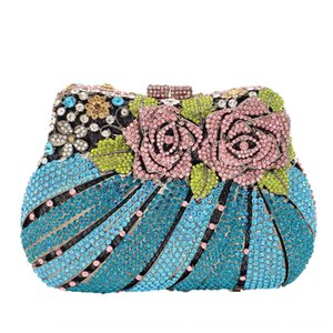 FGG clutch metal diamond banquet rhinestone hand dress Handbag evening dress party evening bag