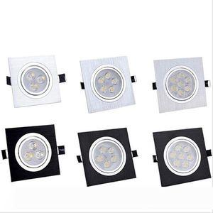 square Led downlight spot light home lighting AC85-265V recessed downlight 3W 5W 6W 7W 9W 10W 14W 15W 21W Indoor lighting