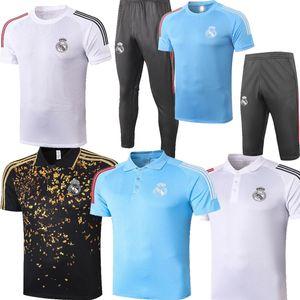 2021 gilt für Real Madrid GEFAHR Modric Ramos Sport EA Herren Fußballtraining kurzer Ärmel Verein aufwärmen Polo Trainingsanzug 20 21