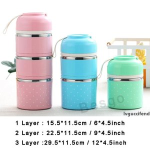 1 2 3 Layer Cute Thermal Lunch Box Leak-Proof Stainless Steel Bento Box Kids Portable Picnic School Food Container Tableware DBC BH2783