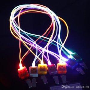 Fibra ottica LED cordino della novità di illuminazione luminoso libretto di lavoro Cordino Hanging luce della corda fronte di sorriso LED cordino + Card
