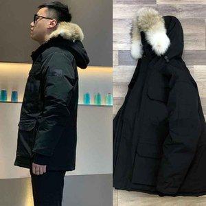 Lobo real PELE New estilo descontraído Top Quality Canada Jacket PBI Parka Expedição FUSION FIT Men Casacos de inverno para baixo Parkas