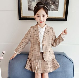 Girls suits kids outfits new 2020 autumn kids clothes girls coat+pleated Skirts kids boutique clothing girls clothes