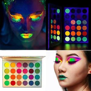 Aurora Glow Eyeshadow Stage Clubbing неоновый макияж в Blacklight УФ свечение в темноте Флуоресцентные Eye Shadows