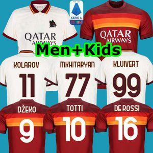Top Futebol AS DE ROSSI ROMA DZEKO Zaniolo roma TOTTI PEROTTI Kolarov 20 21 futebol camisa 2020 2021 Kit Men + crianças uniformes maillot