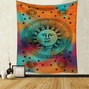 Tapestry Wall Hanging Polyester Mandala Pattern Blanket Home Decoration Yoga Multifunction Mat Small 95x73cm