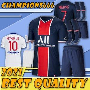 Hombres de actualización especial !!! Los juegos de fútbol Paris 20 21 camiseta de fútbol CAVANI Mbappé NEYMARJR adulto kit de fútbol camisa + pantalones + calcetines