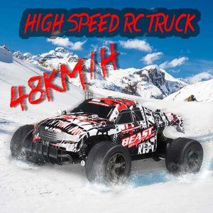 RC автомобилей 48km / H 2.4ghz 1:20 4WD дистанционного управления Высокоскоростная грузовик Электрический грузовик OffRoad Автомобиль 4x4 вождения автомобиля Автомобиль игрушки Y200317